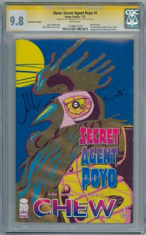 Chew Secret Agent Poyo #1 Variant CGC 9.8 Signature Series Signed John Layman & Rob Guillory Image